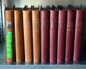 Fiori-su-francobolli-enormi-raccolta-in-9-Lindner-Album-in-427-pagine