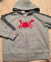 Gymboree Salt Washed Boys Jacket Size 18-24 Months Sweatshirt Crab