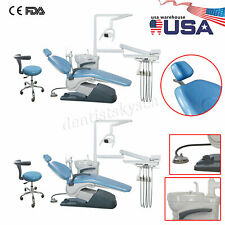 1 2dental Unit Chair Hard Leather Computer Controlled Dc Motor Chair Stools Ce