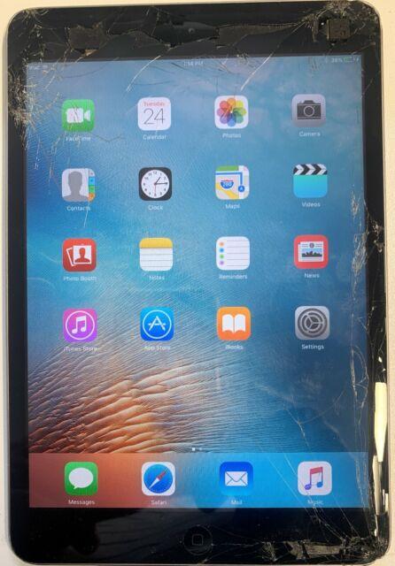 Apple iPad mini 1st Gen. 16GB, Wi-Fi, 7.9in - Space Grey (AU Stock) BROKEN GLASS