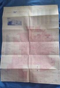 Vintage Map City Street Road ASHLAND OHIO 1979 First Federal Savings & Loan