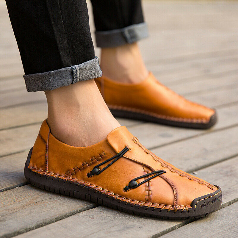 Mens Casual shoes Loafers Rope Comfort Retro Gommino Drive Moccasins Leisure Hot