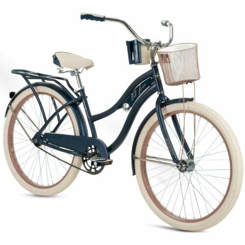 "Blue Free Shipping Huffy 26/"" Nel Lusso Women/'s Beach Cruiser Bike"