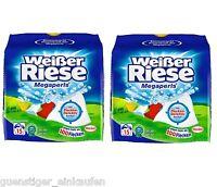 (3,73€/kg) 2x Weißer Riese Megaperls Waschmittel Weißwäsche 1,35kg