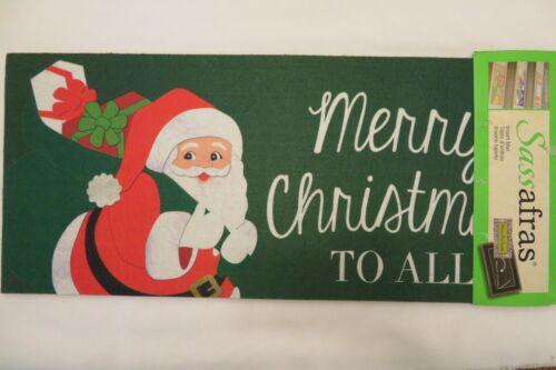 "/""Merry Christmas TO ALL/"" Santa Claus Sassafras Rug Insert Switch Door Mat 10x22"
