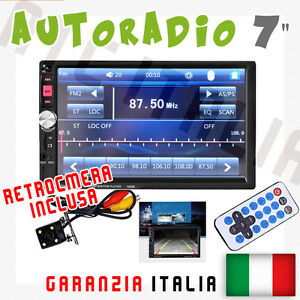 AUTORADIO-Touch-2-Din-7-034-Universale-MP3-MP4-DVR-SD-BLUETOOTH-AUX-RETROCAMERA