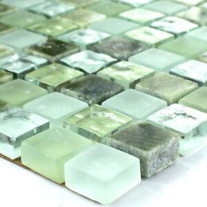 Details Zu Muster Von Mosaikfliesen Glas Marmor Grün Mix Für Bad Küche Dusche Wand