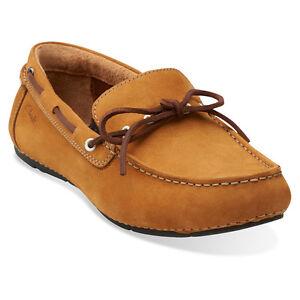 d11792182ca Clarks Marcos Edge Cognac Nubuck Mens Casual Boat Shoes  260 68662 ...