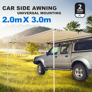 2M x 3M Car Side Awning Roof Top Tent Camping Trailer 4WD ...