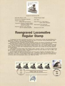 USPS-Souvenir-Page-8710-w-Steamliner-2226-CTC-Stamp-FD
