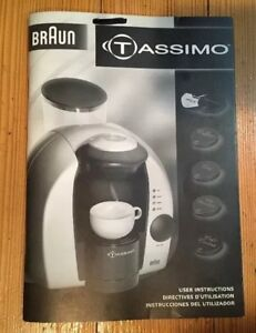 braun tassimo coffee maker 3107 replacement part owner s manual use rh ebay co uk Bosch Tassimo Coffee Maker Manual Bosch Tassimo User Manual