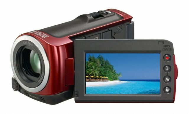 Sony HDR-CX100 AVCHD HD Camcorder with Smile Shutter & 10x Optical Zoom (Red)