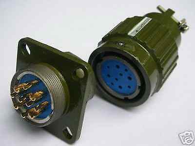 Military Gold 10-Pin Twist Male Female Connector,F10P