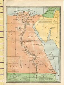 Details about c1880 MAP ~ ANCIENT EGYPT THE LAND OF MIZRAIM ~ LIBYAN on map of dumah, map of magog, map of shinar, map of togarmah, map of hebrews, map of ishmaelites, map of cush, map of michmash, map of kingdom of kush, map of moreh, map of ham, map of aroer, map of japheth, map of aram, map of shem, map of nahor,