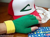 Ash Ketchum Trainer Costume - Pokemon Go Hat & Gloves Set Cosplay