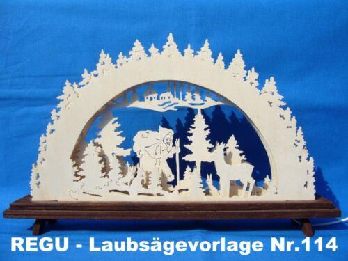 REGU - Laubsägevorlage Schwibbogen Nr.114   Knecht Ruprecht  +++++++++++++++++