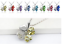 Collana-Donna-Quadrifoglio-Cristallo-Charms-Swarovski-Portafortuna-Regalo-Top miniatura 28