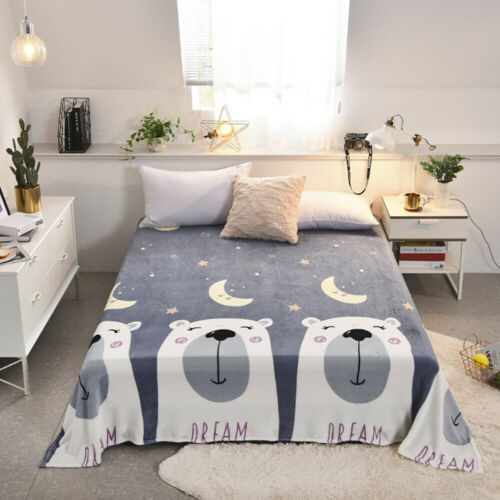 Large Luxury Flannel Blanket Throw Sofa Bed Soft Warm Blanket Double King Mat