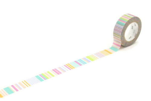 Pastel Stripe Pastel Border MT Washi Masking Tape Bullet Journal Planner Tape