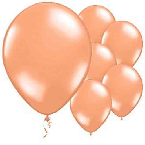 25-100 Large Helium Plain Balloon /& balloon Curling Ribbons For Birthday Wedding