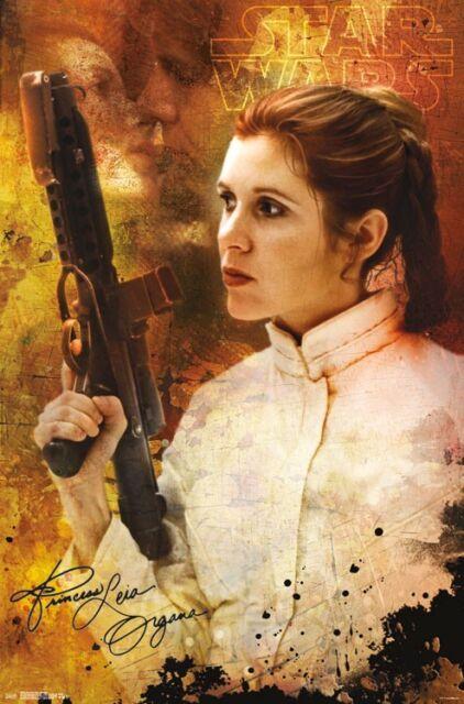 STAR WARS PRINCESS LEIA CEREMONY POSTER MOVIE SAGA 15581 22x34