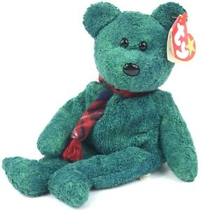 Image is loading TY-BEANIE-BABY-WALLACE-THE-SCOTTISH-GREEN-BEAR- 4a615d9ab6c
