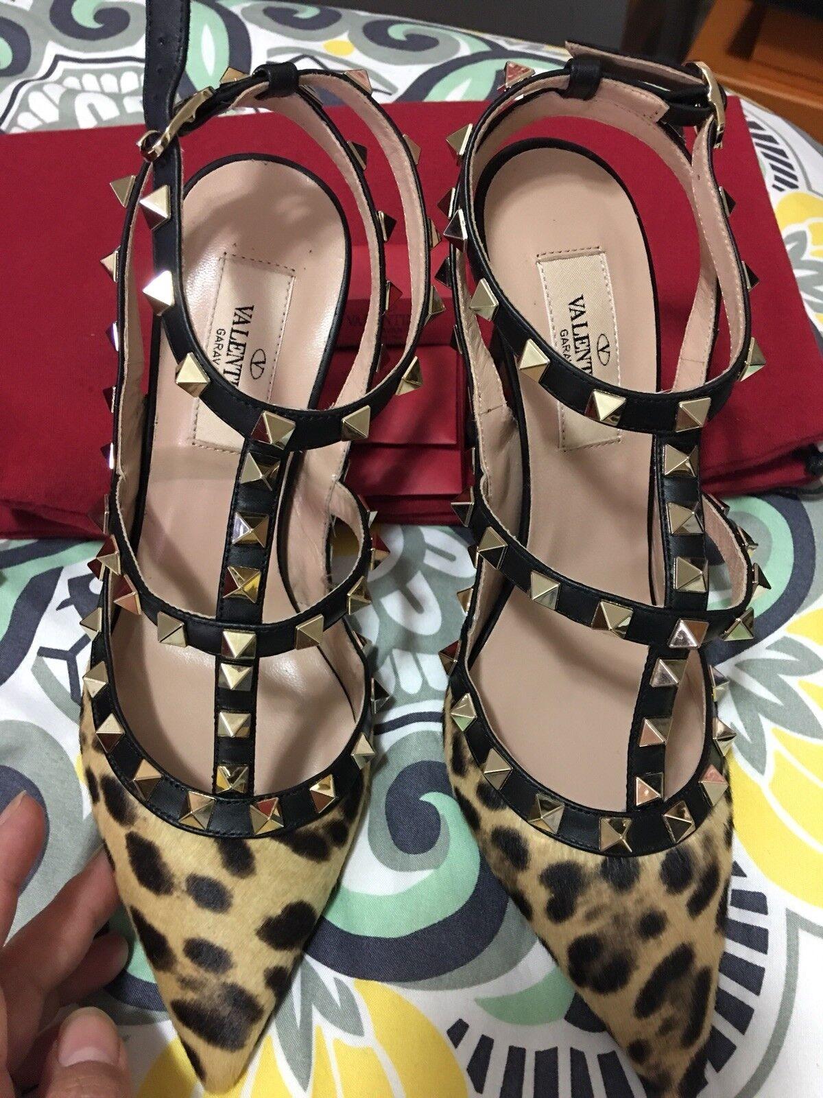 Valentino Valentino Valentino rockstud shoes Size 36.5  BNIB Leopard print 89984e