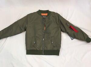 Brooklyn-Cloth-Kids-Boys-Jacket-Size-M-Olive-NWT