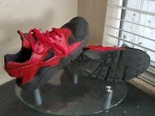 Nike Air Huarache Run PRM Premium Mens Size 13 Red / Black Bred Running Shoes