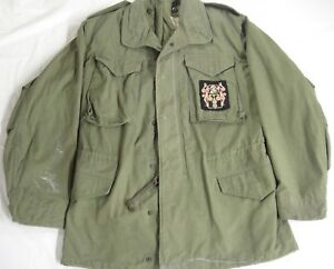 US-Military-Mens-Cold-Weather-Coat-Field-Jacket-Green-Small-Long-John-Ownbey