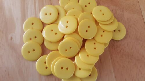 10 x 23mm Resin Buttons 2-Hole 10 Colours White Yellow Pink Blue Green Fuschia
