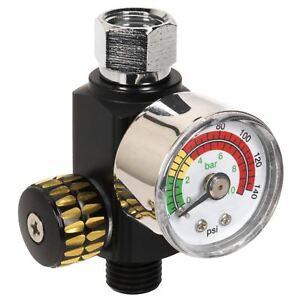 Sealey-On-Gun-Air-Pressure-Regulator-Gauge-Spray-Gun-Air-Tool-Accessories