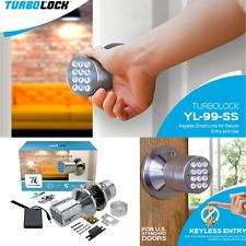 Advanced Security TurboLock Keyless Smart Lock Automatic Locking Battery Backup