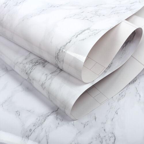 Grey Marble Wallpaper Self Adhesive Wall Stickers Vinyl Kitchen Furniture Wrap