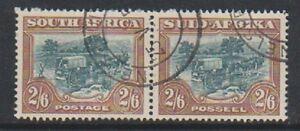 South Africa - 1949, 2s6d Green & Brown - Horizontal Pair - G/U - SG 121
