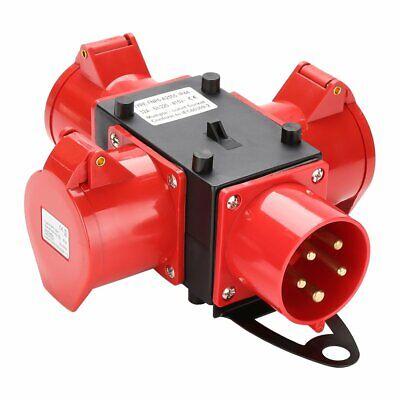 32A V Adapter Stromverteiler Baustromverteiler CEE-Gerätestecker  3 x CEE 400V
