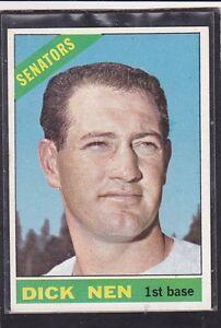 Image Is Loading 1966 DICK NEN Topps Baseball Card 149 Washington