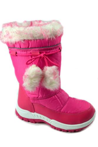 ** GIRLS WINTER KIDS FUR SNOW MOON MUCKER WATERPROOF WELLINGTON WELLIES SHOES
