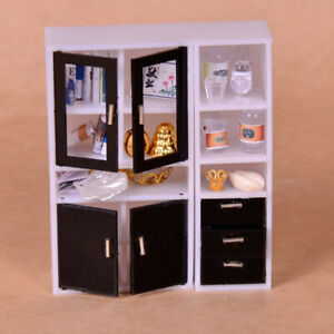 1//12 Miniature European Metal Dresser Jewelry Case Model Dollhouse DIY Kits
