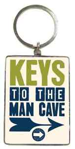 Keys To The Man Cave KeyRing. Gift For Male. Fathers Day, Christmas, Birthday