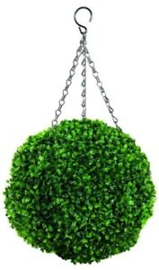 Faux-decor-Topiary-Ball-Leaf-Effect-Green-40-cm