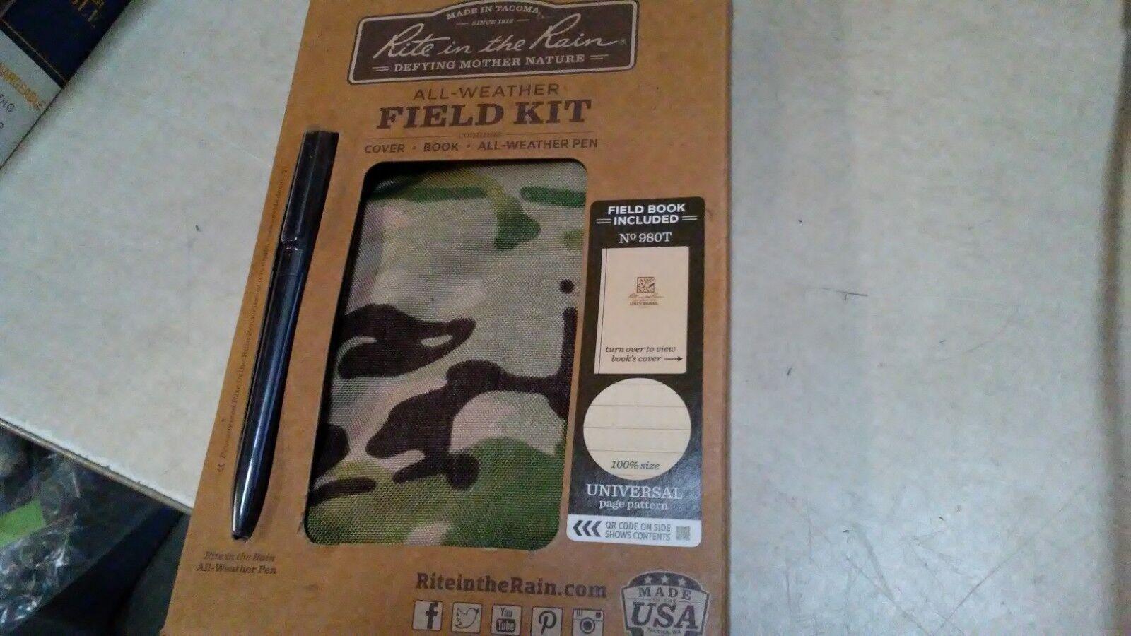 Rite in the Rain 980M-Kit All-Weather Universal Field-Flex Book Kit,Tan MultiCam