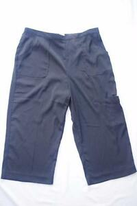 ab6090762cf Womens Alfred Dunner Capri Pants Size 16W Black Casual Career ...