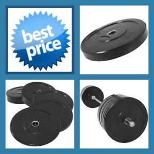 BLACK-15KG-A-GRADE-CLUB-Series-Olympic-Size-RUBBER-BUMPER-GYM-WEIGHT-PLATE