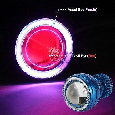 LED Purple Halo Angel Red Demon Eye Headlight For Yamaha YZF R1 R6 R6S 600R 750R