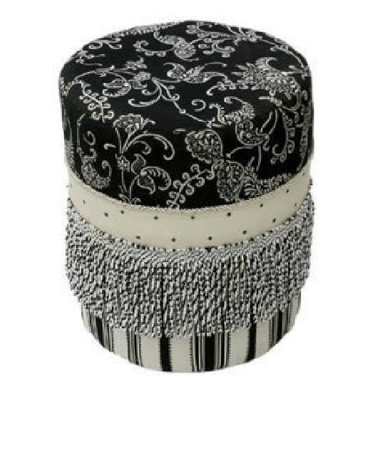Pure European American decorative jacquard classic luxury Round vanity footstool