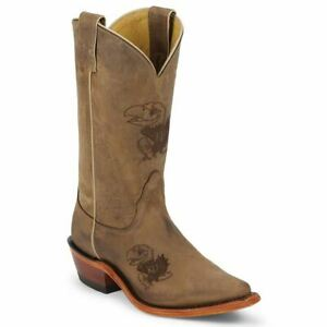 Nocona-LDKU11-Womens-Kansas-Brown-Cowhide-Branded-College-Boots
