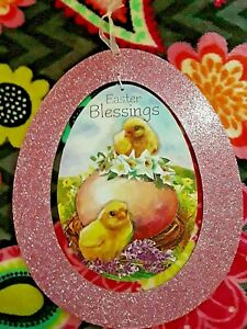 Decoration Chickens Easter Egg Glitter Statue Easter Greeting