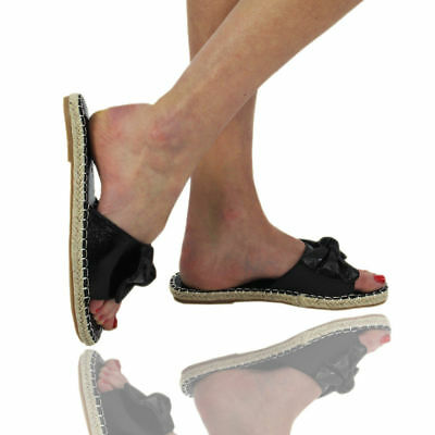 Competente Nuova Linea Donna Donna Scarpe Comode Cursori Flats Diapositive Espadrillas Con Fiocco Pantofole Mis-mostra Il Titolo Originale