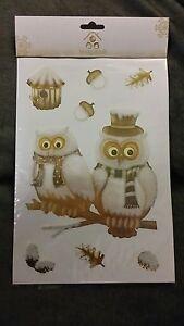 Stickers repositionnables Forêt magique HIBOU effet duvet 1 planche
